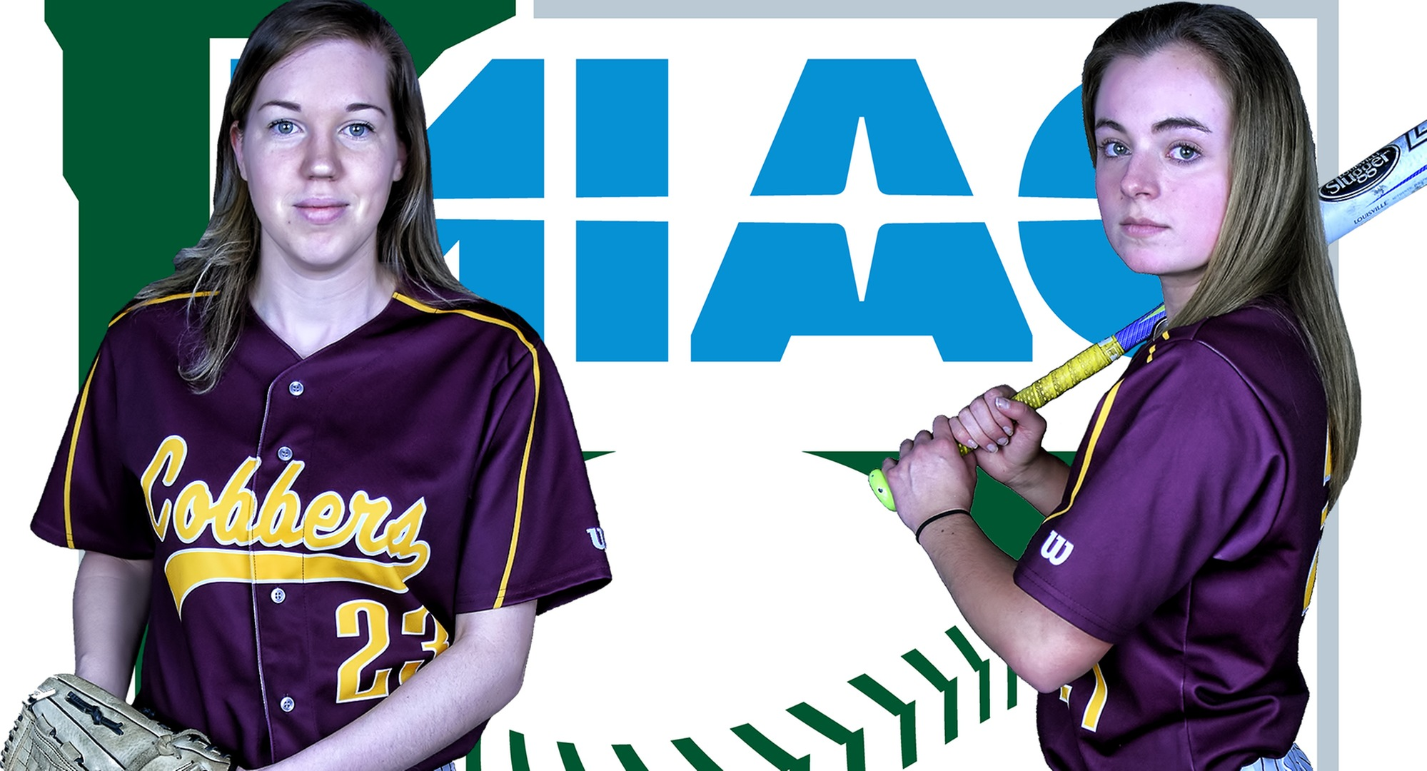 Megan Gavin (L) and Maria Pake both earned MIAC All-Conference honors.