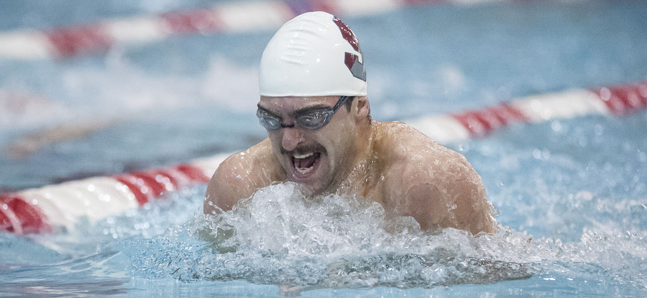 Men's Swimming and Diving Competes in Opening Day of Ithaca Invitational