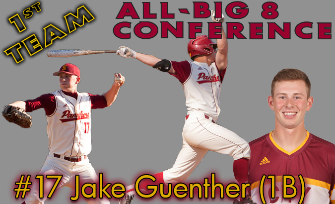 Guenther is selected to the 1st Team All-Big 8 Conference as a First Baseman