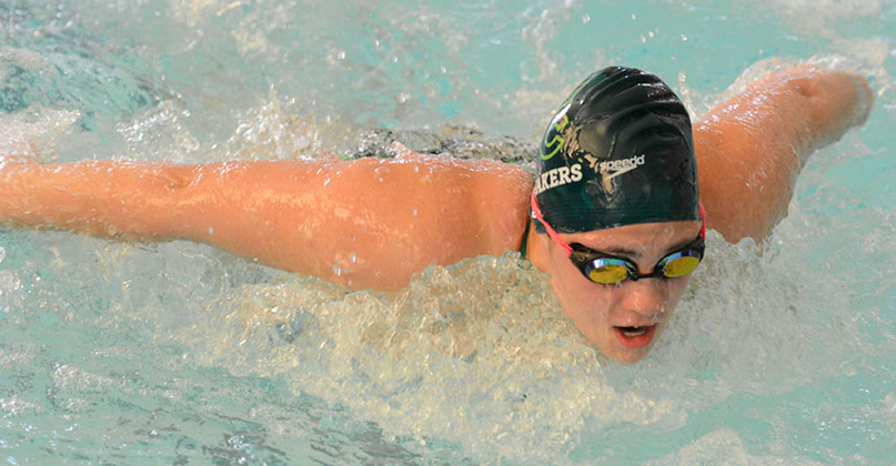 @DubC_Swimming women hold third at OWU invite