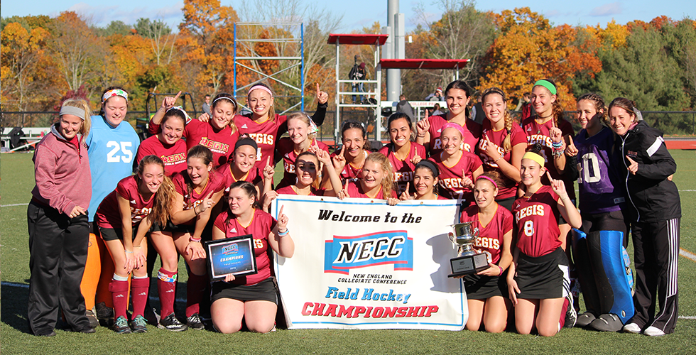 Regis Field Hockey Wins the NECC Championship