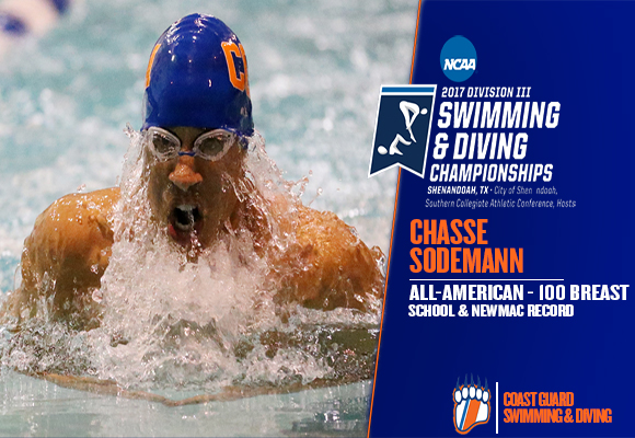 Sodemann Earns All-America Honors in 100 Breaststroke