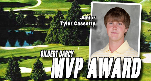 Cassetty wins men's golf team's Darcy Most Valuable Player Award