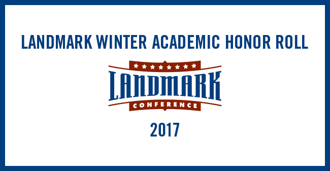 35 Greyhounds Named to 2017 Landmark Conference Winter Academic Honor Roll