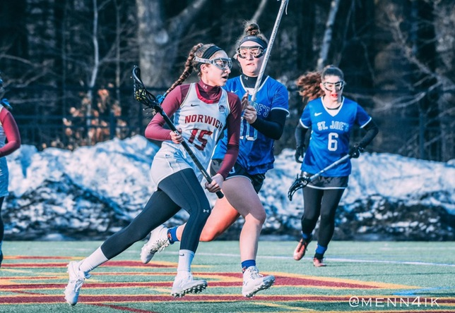 Women's Lacrosse: Mendes shatters draw controls record in Cadets' dominant 21-3 victory