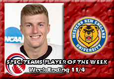 Kurtis Jolicoeur-Western New England, CCC Football: Special Teams Player of the Week