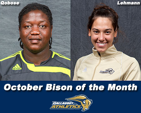 Lehmann, Qobose earn October Bison of the Month honors