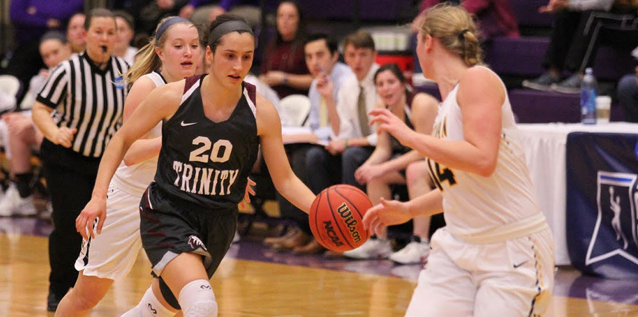 Trinity Women's Basketball Edged by Whitman in NCAA Sectional