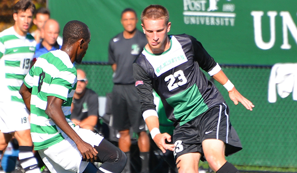 Strong Second Half Gives Post 3-1 Men's Soccer Victory over Wilmington