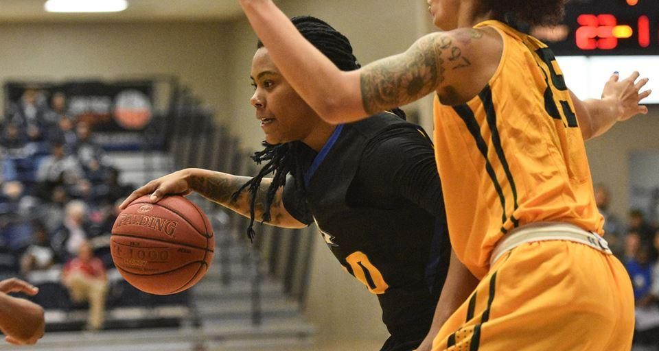 Japonica James posted a triple-double in the Eagles' season-opener (Photo courtesy of Tom Hagerty, Polk State College)