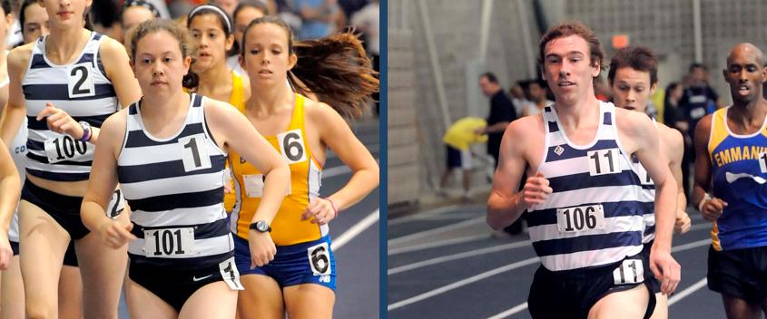 Kate Warwick '12 and Chris Brown '12 (photos by Sportspix/Jan Volk)