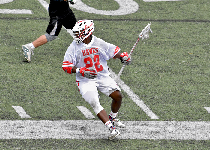Raymond Edwards had five ground balls, two caused turnovers and won three faceoffs in Monday's loss to Centre.