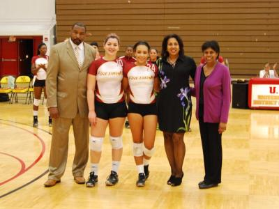 The University of the District of Columbia Women's Volleyball Team Disposes of Local Rival Bowie State on Senior Night in Three Sets