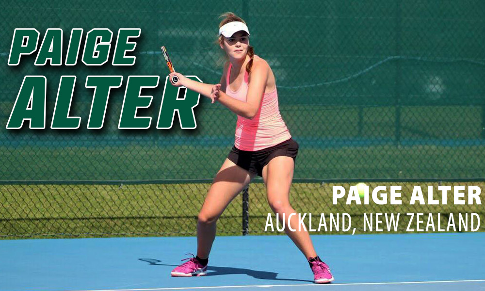 WOMEN'S TENNIS SIGNS NEW ZEALAND'S PAIGE ALTER