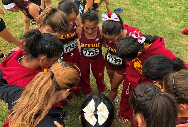 The Glendale College Men and Women's Cross Country teams swept the WSC team titles for the 14th time in program history. Photo Courtesy of Glendale College Athletics.