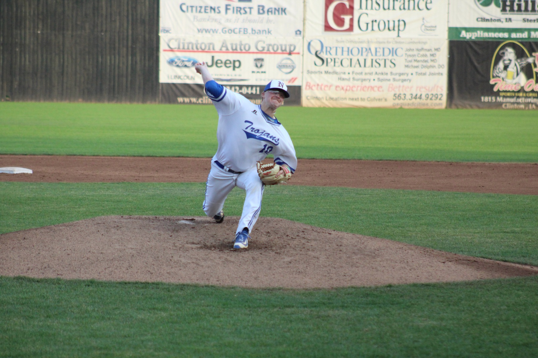 Spencer Chirpich delivers a pitch in Thursday's regional tournament game against Northeast CC.