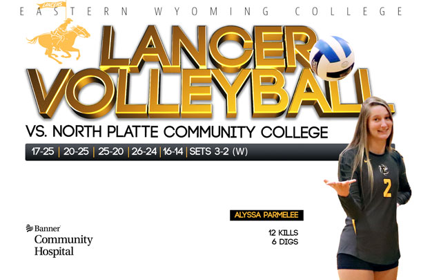 Eastern Wyoming College Lancer Volleyball vs. North Platte Community College