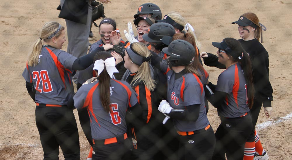 Softball gains sweep over Webster