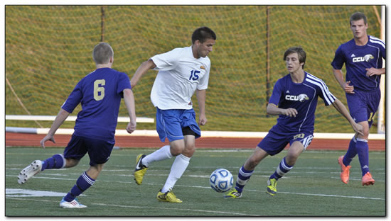 Mount men's soccer squad posts a 2-1 win at Earlham College