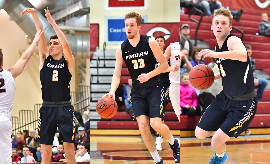 Emory Men's Basketball Places Three On All-UAA Team -- Gigax Earns First-Team Nod