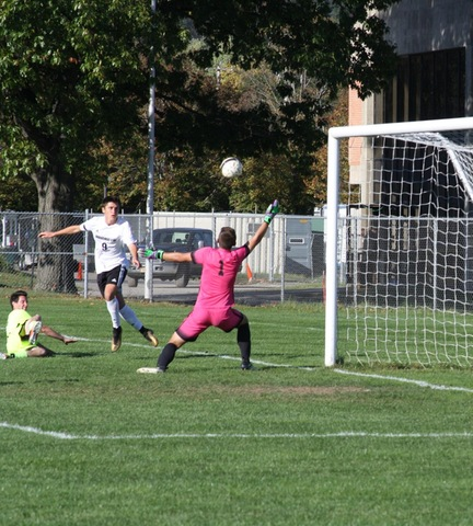 Shot on goal by SUNY Broome's #9