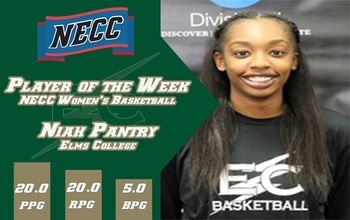 Junior Forward Niah Pantry (New Haven, CT) was named NECC Player of the Week for the second straight week