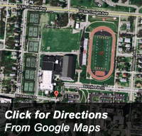 Click for Google Maps directions to the HPER Center