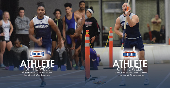 Zion Howard '21 and Scott Goodwin '19 named as Landmark Conference Men's Track & Field Athlete of the Week for second consecutive week.
