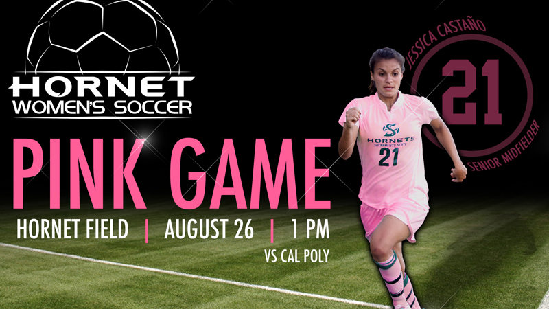 Senior Jessica Castaño and the Hornets will wear pink against Cal Poly on Sunday.
