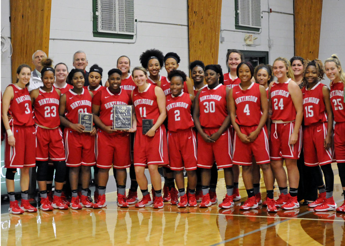The Huntingdon women's basketball team defeated William Peace 76-69 to win the Jackie Ammons Memorial Tournament on Saturday (Photo contributed)