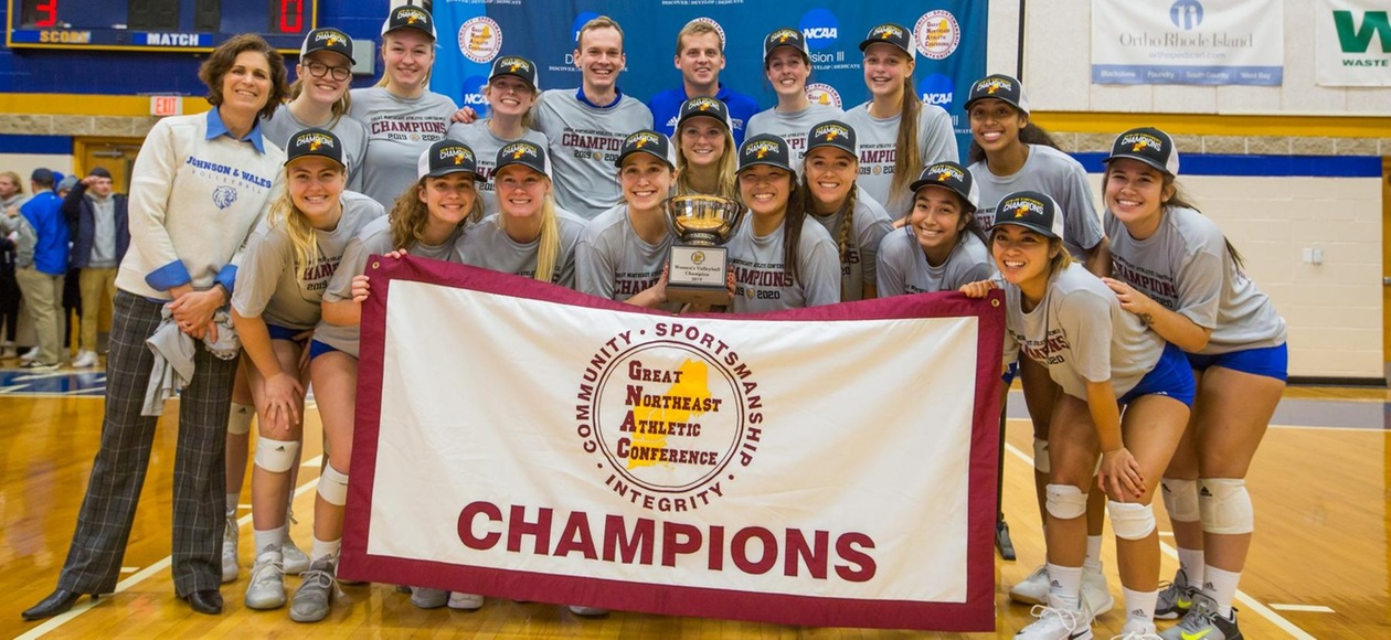No. 21 Women's Volleyball Defeats Rivier 3-0 for 5th-Straight GNAC Title