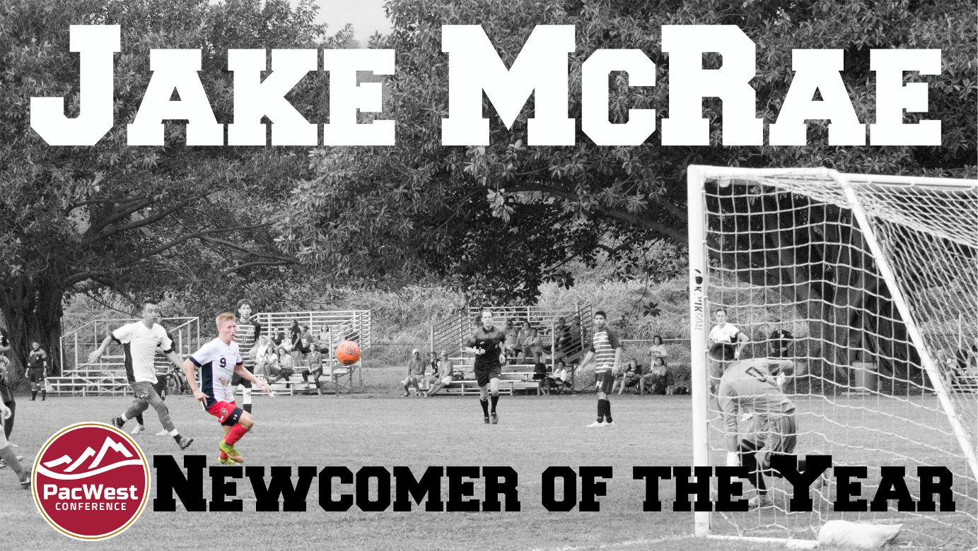 Jake McRae named 2015 PacWest Newcomer of the Year