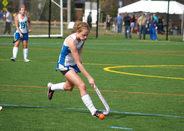 Julia Grover scored the first goal in a 3-0 win at Roger Williams on Wednesday.