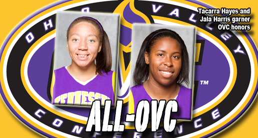 Golden Eagles Hayes, Harris net all-OVC honors