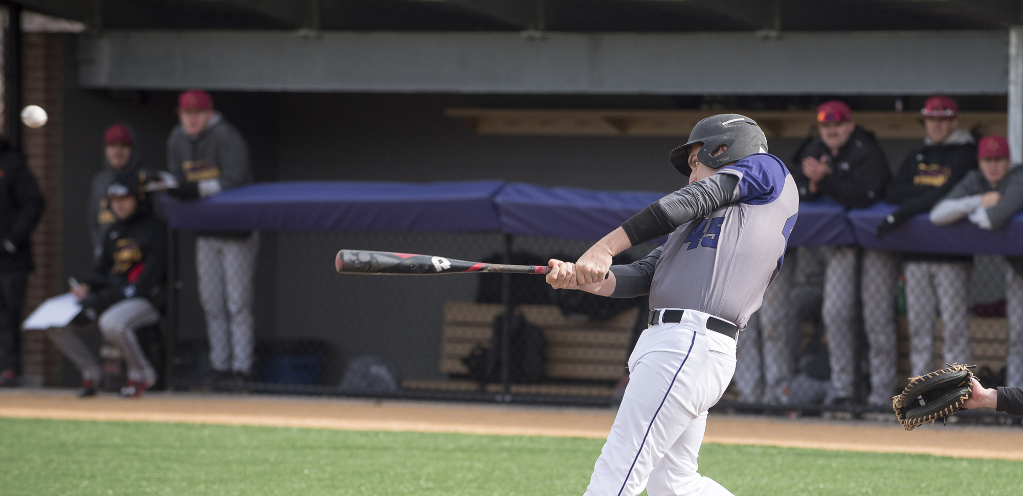 Senior outfielder Sean Haveron had two hits, including a double, and scored a run on Thursday.