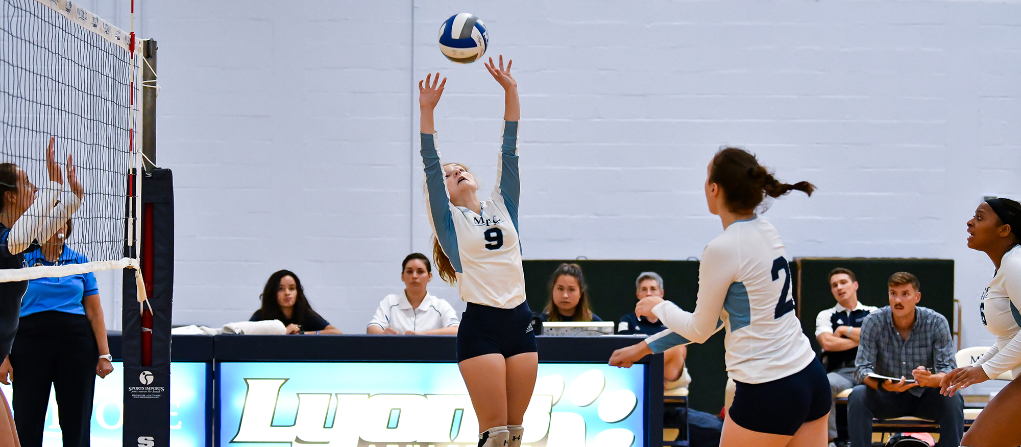 Volleyball Drops NEWMAC Decision to Springfield in Three Sets
