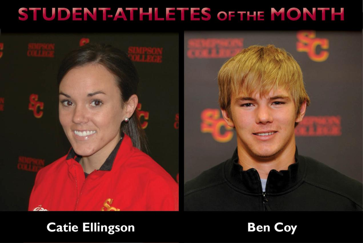 Ellingson, Coy named Student-Athletes of the Month