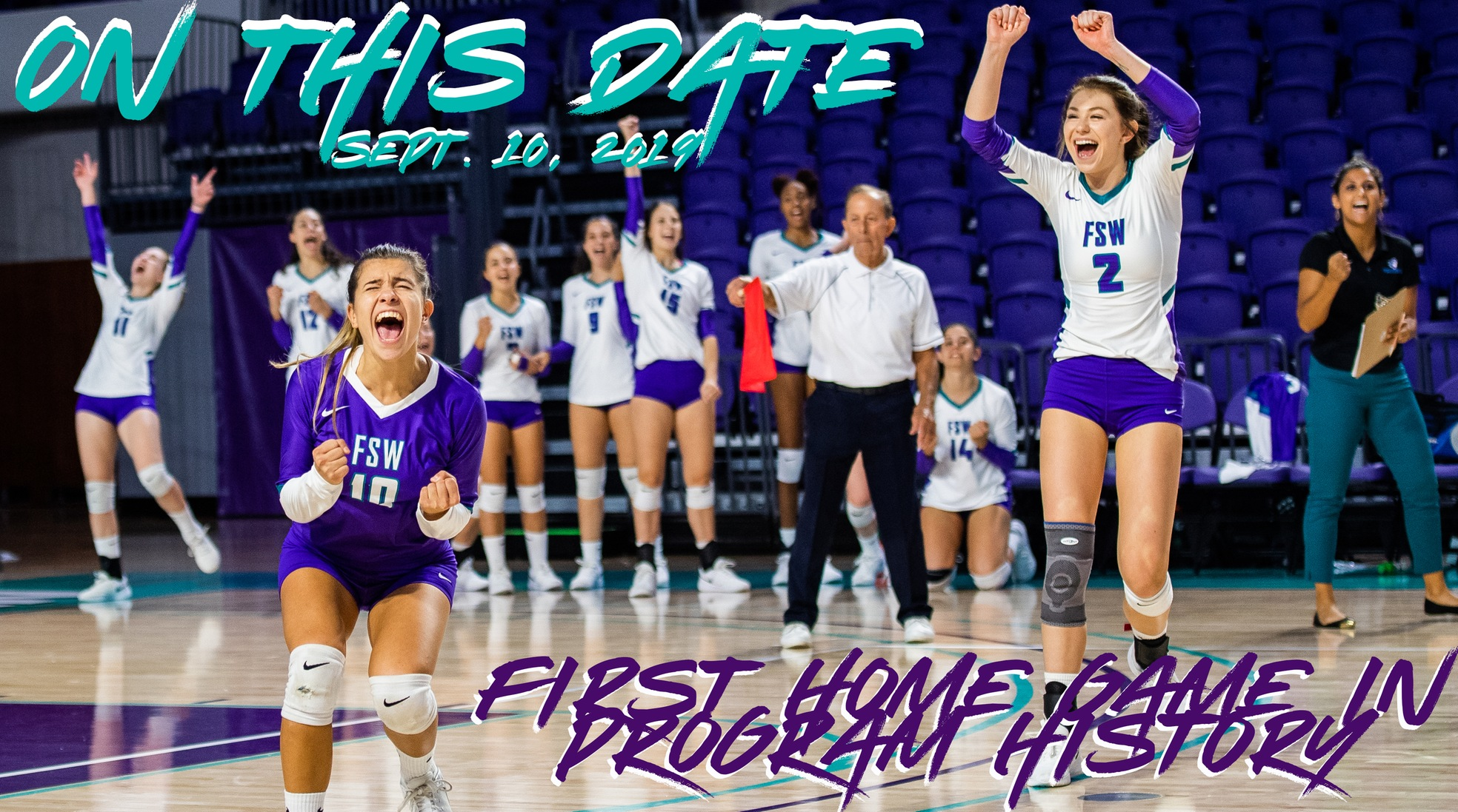 On This Date In FSW Athletics History: Bucs Volleyball Plays and Wins First Home Matches in Program History