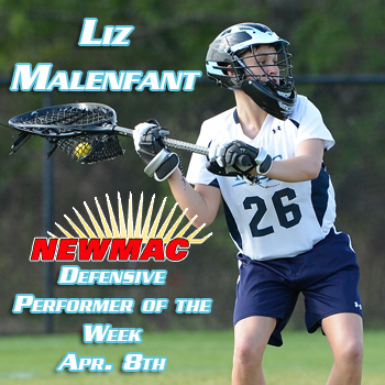 Malenfant Earns Weekly NEWMAC Honors