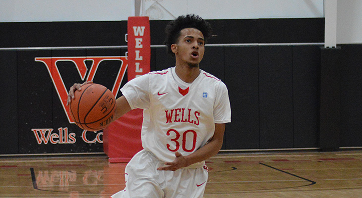 Hot-Shooting Wells Men's Basketball Defeats Elms
