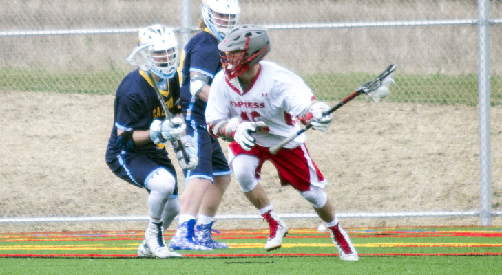 Offense Carries Wells Men's Lacrosse To Victory