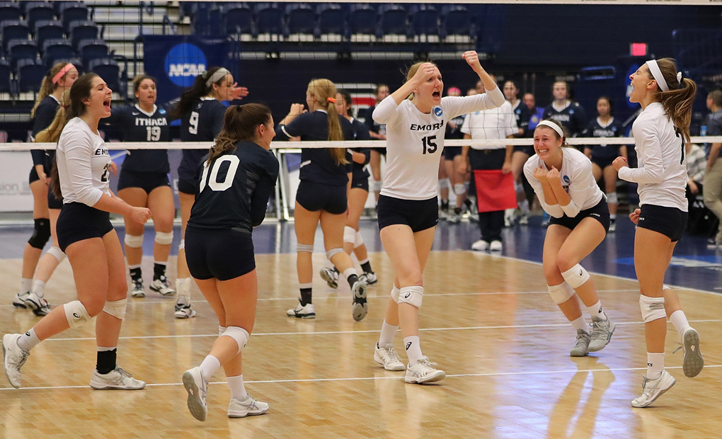Emory Volleyball Tops Ithaca In Quarterfinals Of NCAA Championships