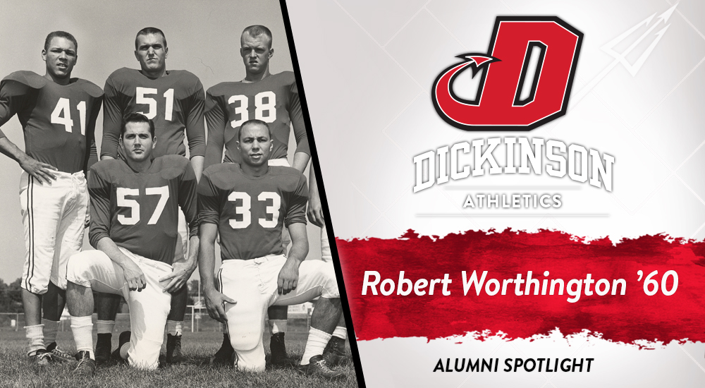 Robert Worthington special feature graphic. Photo is of Robert with teammates in 1959.