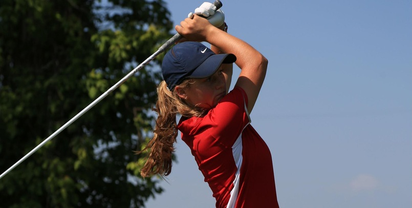 Emily Barker had the low score for SVSU in the opening round...
