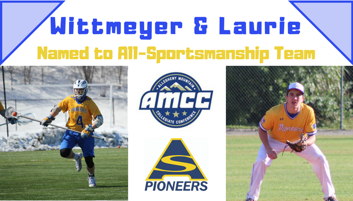 Joe Wittmeyer and Josh Laurie named to AMCC Sportsmanship Team