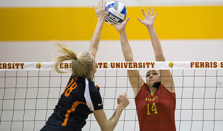 WATCH: Ferris State Volleyball vs GVSU - Midwest Regional Championship