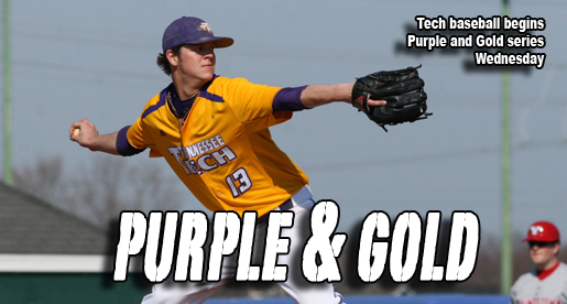 The Golden Eagles baseball team begins their annual Purple and Gold Series
