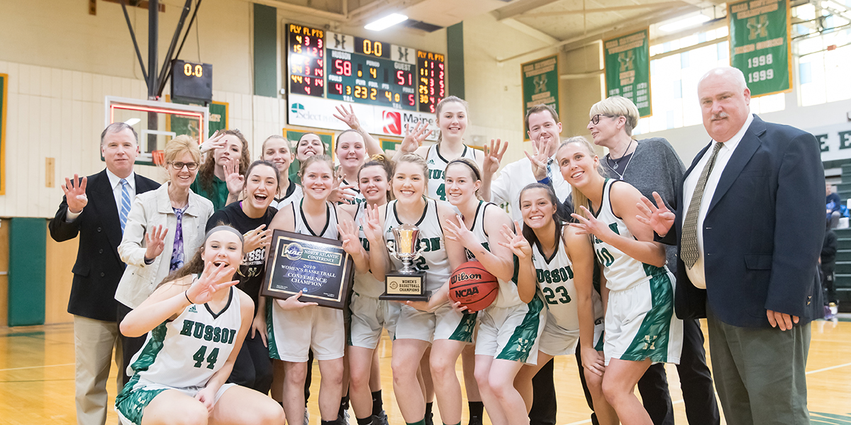 Women's Basketball Captures Program's First Four-Peat with a 58-51 Victory Over Maine Maritime