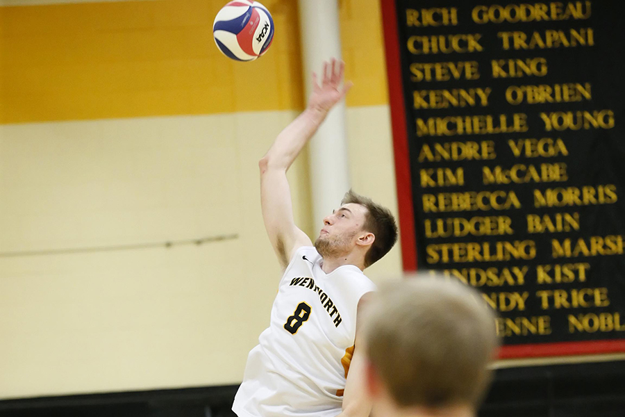 Back to the 'Ship; Men's Volleyball Sweeps Johnson & Wales in GNAC Semifinals