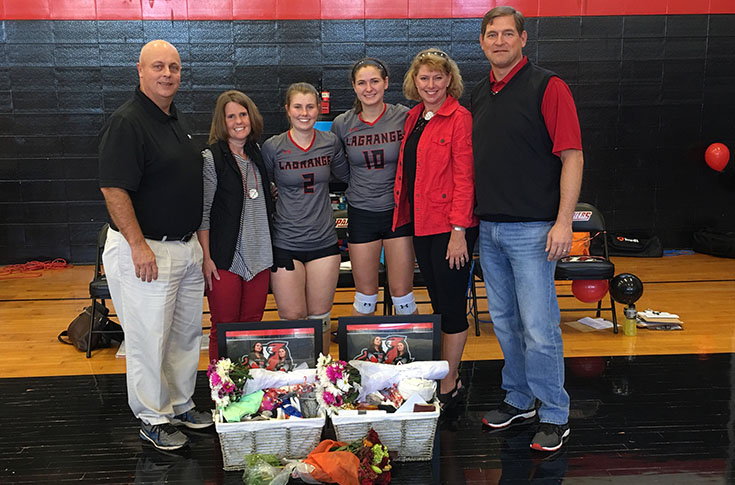 Volleyball: Panthers split matches with Brevard and Maryville on Senior Day